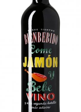 Bienbebido Come Jamón y Bebe Vino Tinto