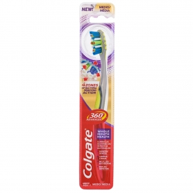 Cepillo dental 360° Advanced medio Colgate 1 ud.