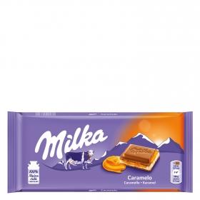 Chocolate con leche relleno de caramelo Milka 100 g.