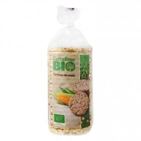 Tortitas de maíz ecológicas Carrefour Bio 115 g.
