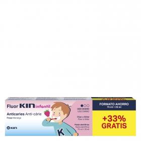 Dentífrico infantil de 2 a 6 años Fluor Kin 100 ml.