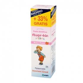 Pasta dentífrica infantil de 2 a 6 años Fluor