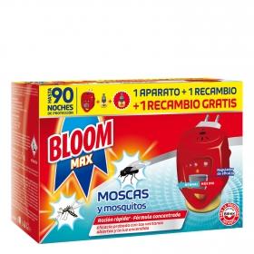 Insecticida eléctrico moscas y mosquitos aparato + recambio Bloom 1 ud.