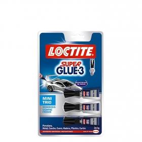 Pegamento  Súper glue-3 Minitrio 3x1gr