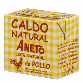 Caldo de pollo Aneto sin gluten y sin lactosa 500 ml.
