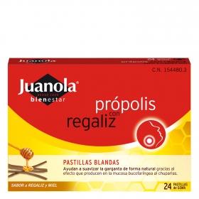 Pastillas de regaliz con própolis para la garganta Juanola 100 g.