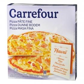 Pizza hawaiana masa fina