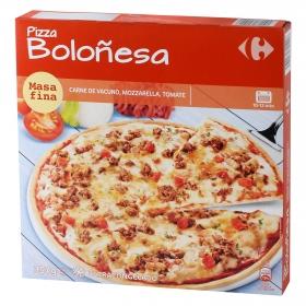 Pizza boloñesa masa fina Carrefour 375 g.