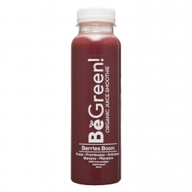 Smoothie de frutos rojos ecológico Be Green botella 30 cl.