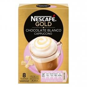 Café soluble mocha blanco en sobres Nescafé 8 unidades de 15 g.