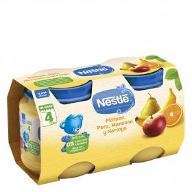 Tarrito Duo de pera y plátano Nestlé sin gluten pack de 2 unidades de 130 g.