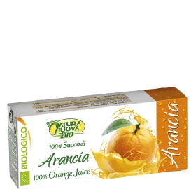 Zumo de naranja ecológico Natura Nuova pack de 3 briks 20 cl.