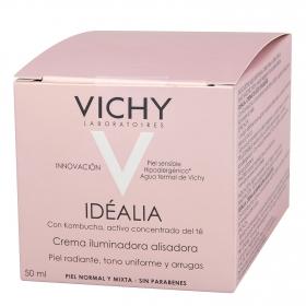 Crema Idéalia iluminadora alisadora para piel normal y mixta