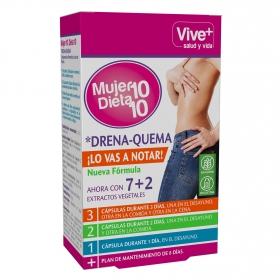 Complemento alimenticio Mujer 10 Dieta 10 Vive+ sin gluten y sin lactosa 30 cápsulas