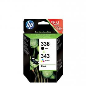 Multipack Cartucho de Tinta HP 338/343 - Negro/Tricolor