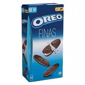 Galletas de chocolate rellenas de crema Finas Oreo 192 g.