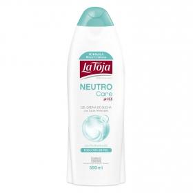 Gel crema de ducha con sales minerales y Pro-vitamina B5 Neutro care La Toja 550 ml.