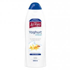 Gel crema de ducha con sales minerales y proteinas de yogur La Toja 550 ml.
