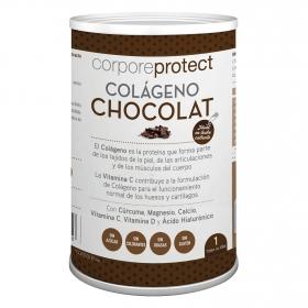 Colágeno de chocolate Corpore Protect sin gluten 250 g.