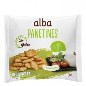 Panetines sabor pizza Alba sin gluten 90 g.
