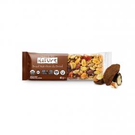 Barrita de frutos secos, semillas y cacahuetes ecológica Taste of Nature con nueces de Brasil 40 g.