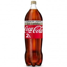 Refresco de cola Coca Cola light sin cafeína botella 2 l.