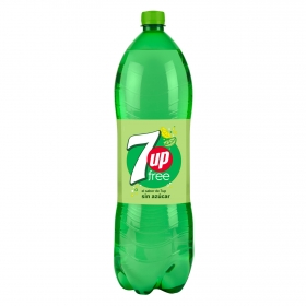 Refresco de lima-limón 7UP con gas zero azúcar botella