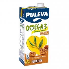 Bebida láctea desnatada Omega 3 Puleva con nueces brik 1 l.
