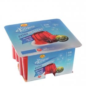 Gelatina sabor frutos rojos Reina sin gluten pack de 4 unidades de 100 g.