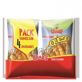 Palitos de pan crujiente con queso Velartepack de 4 unidades de 40 g.
