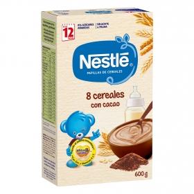 Papilla en polvo de cereales al cacao