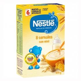 Papilla en polvo de 8 cereales con miel