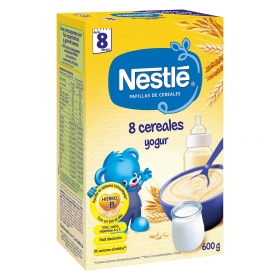 Papilla en polvo de 8 cereales con yogur