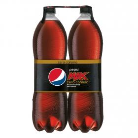 Refresco de cola Pepsi Max zero cafeína pack de 2 botellas de 2 l.
