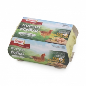 Huevos camperos de corral Coren 6 ud