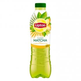 Refresco de té verde matcha Lipton sabor jengibre y hierba limón botella 1 l.
