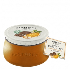 Crema de chocolate con piel de naranja ecológica Pastoret 100 g.
