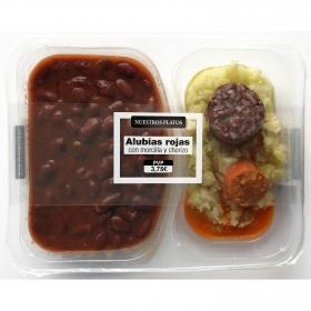 Alubias rojas con morcilla y chorizo Guisos Guiraldo envase 380 g