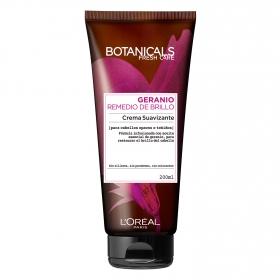 Crema suavizante Geranio Remedio de Brillo para cabellos teñidos L'Oréal-Botanicals 200 ml.
