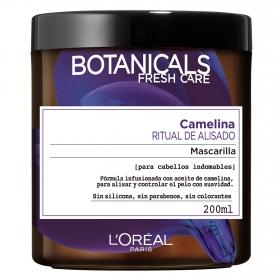 Mascarilla capilar Camelina Ritual de Alisado para cabellos indomables L'Oréal Botanicals 200 ml.