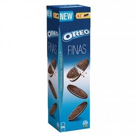 Galletas de chocolate rellenas de crema Finas Oreo 96 g.