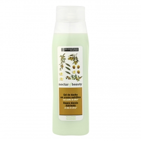 Crema de ducha nutritiva con extracto aceite de oliva