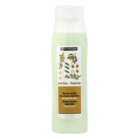 Crema de ducha nutritiva con extracto aceite de oliva Les Cosmétiques Néctar of Beauty 750 ml.