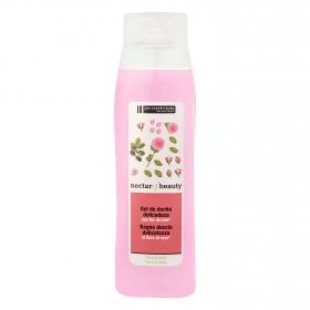 Crema de ducha delicadeza con flor de rosa Les Cosmétiques Néctar of Beauty 750 ml.