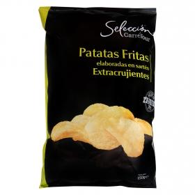 Patatas fritas en aceite de oliva Carrefour Selección 130 g.