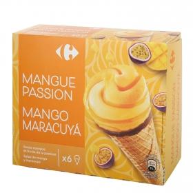 Conoc con helado de mango y maracuyá Carrefour 6 ud.
