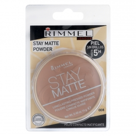 PolvoS compacto matificante Stay Matte nº 008 Rimmel 1 ud.
