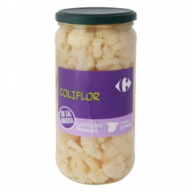 Coliflor sin sal añadida Carrefour 390 g.