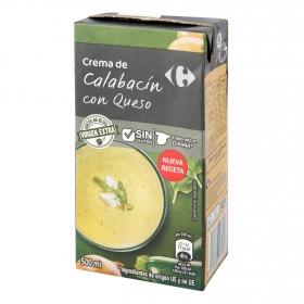 Crema de calabacín con queso Carrefour sin gluten 500 ml.
