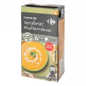Crema de verduras mediterráneas Carrefour sin gluten 500 ml.